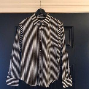 Stripe collared shirt